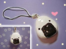 Onigiri Cellphone Charm :3 by KelliBean