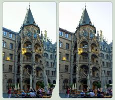 Neues Rathaus Of Munich II 3D :: HDR Cross-View by zour