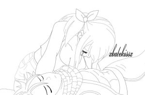Nalu - to late .. lineart by felixne