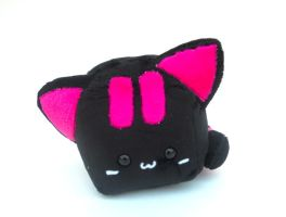 Black Kitty Cubed Plushie by Love-Who