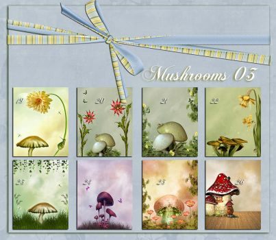 Backgrounds Mushrooms 03 by flaviacabral