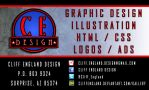 Business Card 1 - Cliff England Design by CliffEngland