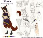 Ziava Character Sheet by aisazia