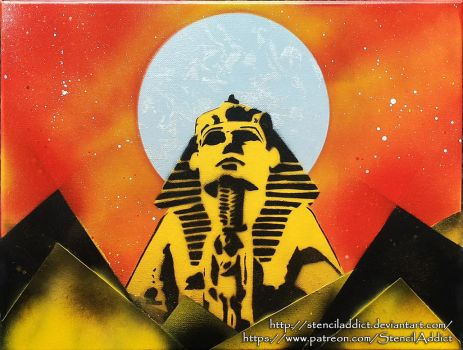 Egyptian Sphinx by StencilAddict