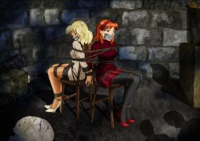 Keyer and CHRYSTEL - The Ghost of Glendoom Castle by DamselComics
