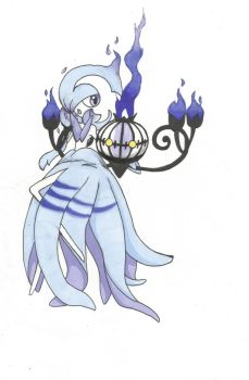 Fire Ghost Gardevoir x Chandelure by Pon-Monster