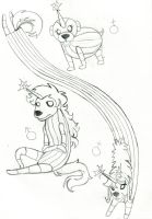 LadyRainicorn n Jake's Puppies by Jasperideon
