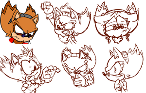 Eggman Hedgie Sketches by Poulterghiest