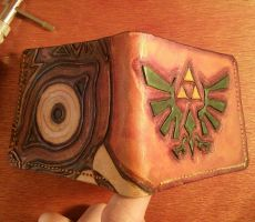Majora's Mask and Zelda Triforce Wallet by Bubblypies