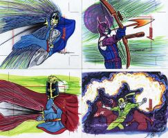 Marvel Greatest Heroes cards15 by artist Tom Kelly by TomKellyART