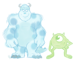 Scrap: Sulley and Mike by Shellsweet
