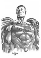 B and W Superman by AllPat