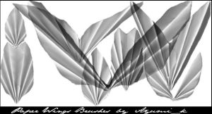 PaperWings_brushes PS7 by ayumik