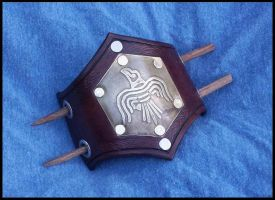 Raven Banner Barrette by SteamViking