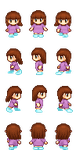 [Commission] The little princess sprite sheet by Lagoon-Sadnes