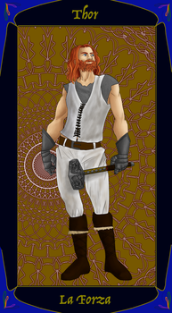 Uncle Rick's Tarot- The Strenght- Thor by Vic-Evy