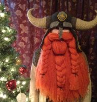 Horned helm with ginger beard by Drgibbs