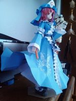 Yuyuko Papercraft by KrystalizedArtist9