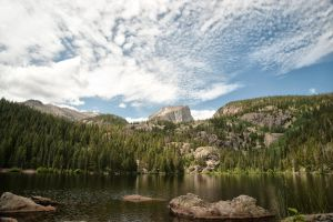 Hallett Peak, Rocky Mountain National Park by DFWHDR