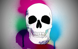 Scull in Colors Wallpaper by Thvg