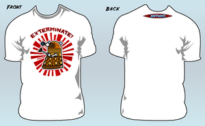 "AnyWho ""EXTERMINATE"" T-shirt by willmeister42"