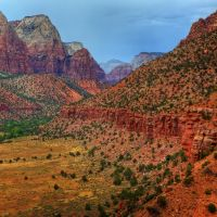 Zion Canyon from Watchman by ernieleo