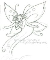 Sketch - Faerie Heart by rachelillustrates