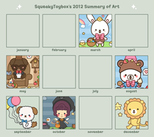 Summary of Art 2012 by SqueakyToybox