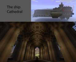 Ship Cathedral 1 of2 Minecraft by VV01