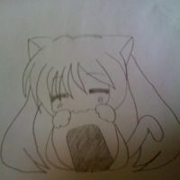 Hatsuen miku eating... by 4everAwesome29