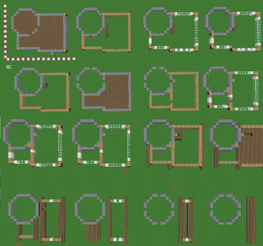 Mincraft House Blueprint by FAR-TO-MUCH