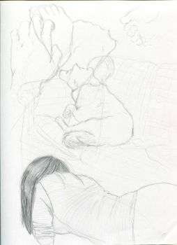 life drawing sketches by EpicRainbows