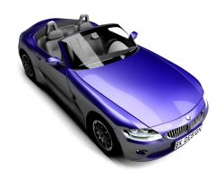 BMW Z4 from above by bkdesign