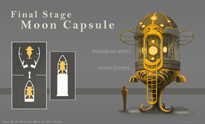 'From the Earth to the Moon' - Space Capsule by ZacharyHogan