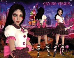 alice madness returns crying virgin by jomic-95