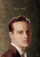 Jim Moriarty - Miss me? by RhiannaIsMyName