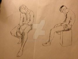 Clothed figure Drawing 3: 10 min drawings by KannaMoako