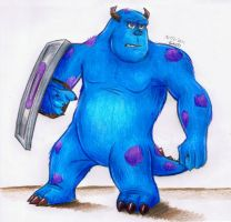 Sulley is ready to fight! by Orange-mik