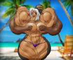 Lady Urd and Myself at the Beach 2 by muscle82002