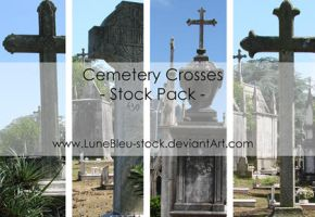 Cemetery Crosses Pack by LuneBleu-Stock