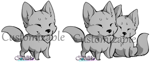 Customizable Chibi single and couple by Belliko-art