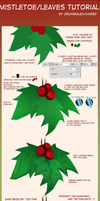 Holly berry/Kissing plant/Leaves tutorial by PrinceCaeruu