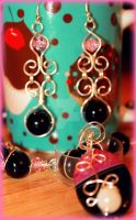 Two Toned Wire Wrap Earrings by LadyAriessTemptra