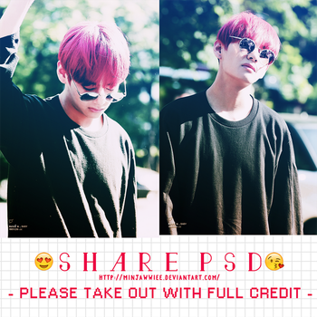SHARE PSD #1 - V .ver by minjawwiee