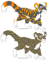 Tiger and Leopard Adopts {OPEN} by SNlCKERS