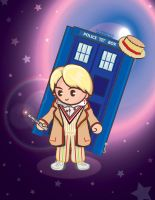 Dr.Who 5th Doctor -COMMISSIONED PIECE- by dearestlove101