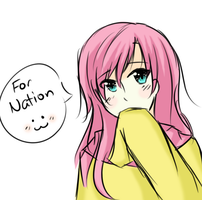 Fluttershy by Hina-Chaan by TheNationMaker