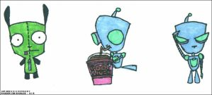 Invader Zim Doodles: GIR by snickerbaby