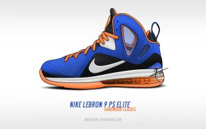 Nike Lebron 9 PS Elite 'Hardwood Classic' by BBoyKai91