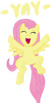 Fluttershy is cheering for you! by partyars